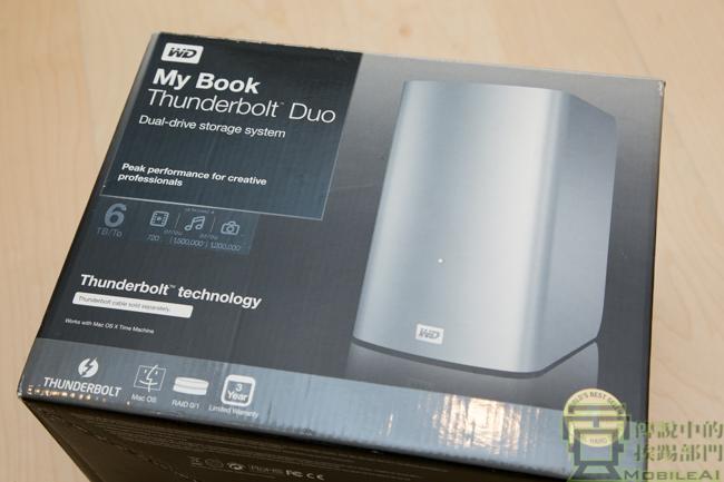 具備 Thunderbolt 高速介面與RAID 安全性的 3.5 吋可抽換外接式硬碟 — WD My Book Thunderbolt Duo - 傳說中的挨踢部門