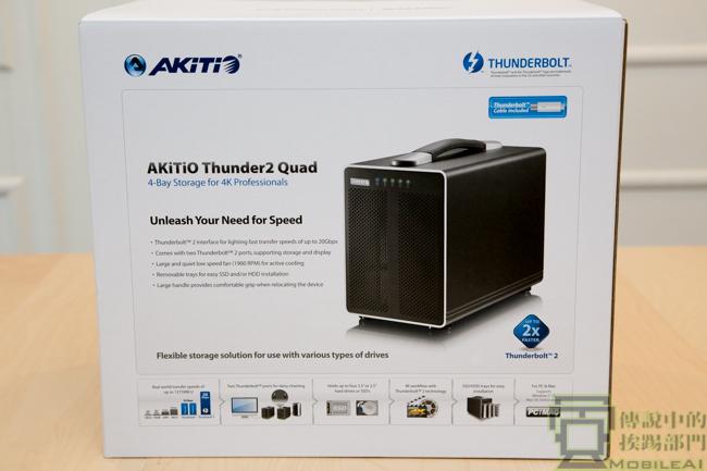 『開箱』擁有 Thuderbolt 2 雙向 20Gbps 高速 4 Bay 硬碟外接盒 - AKiTiO Thouner2 Quad - 傳說中的挨踢部門